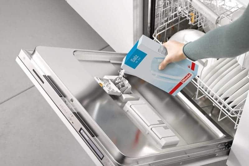 Not enough dishwasher salt