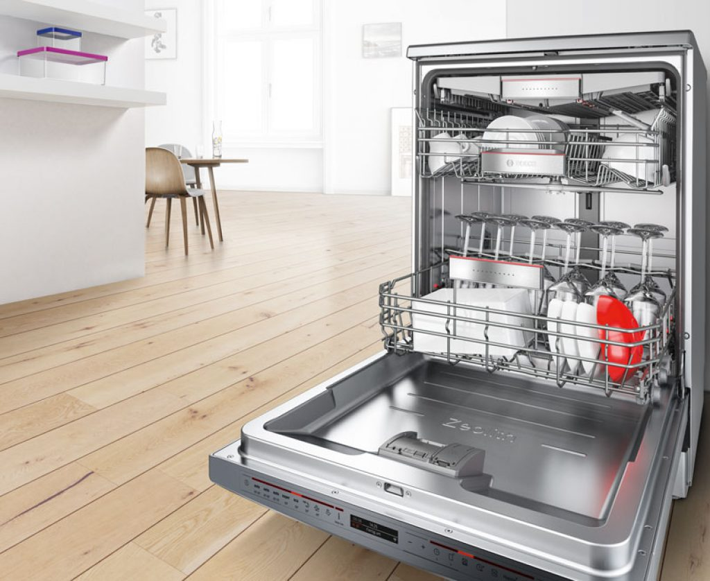 Dishwasher with zeolite drying